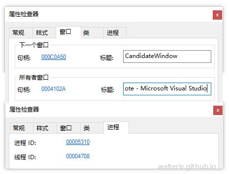 居然是 Visual Studio 的某个子窗口